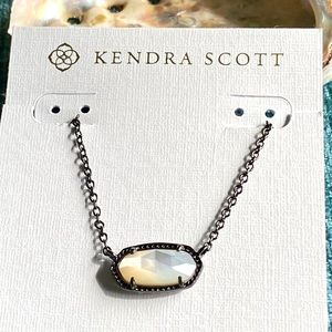 Kendra Scott Elisa Gunmetal Ivory Mother of Pearl